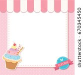 vector of cupcake pink cafe... | Shutterstock .eps vector #670345450