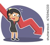 indian businesswoman in panic... | Shutterstock .eps vector #670346233