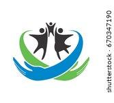 family care logo | Shutterstock .eps vector #670347190