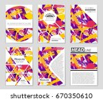 abstract vector layout... | Shutterstock .eps vector #670350610