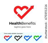 health benefits logo. good... | Shutterstock .eps vector #670351216