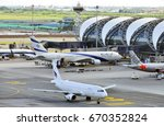 bangkok july 2 2017 docked away ... | Shutterstock . vector #670352824