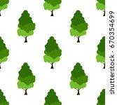 leaves of green trees seamless... | Shutterstock .eps vector #670354699