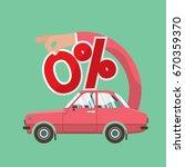 zero percent car loan vector... | Shutterstock .eps vector #670359370