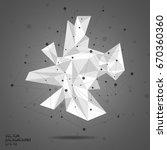 3d low polygon geometry... | Shutterstock .eps vector #670360360