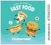 vintage food poster design with ... | Shutterstock .eps vector #670362310