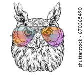 hand drawn fashion illustration ... | Shutterstock .eps vector #670365490