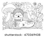 vector illustration zentangl....   Shutterstock .eps vector #670369438