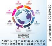world map infographics design... | Shutterstock .eps vector #670369630