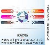 world map infographics design... | Shutterstock .eps vector #670369663