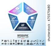 infographics design template... | Shutterstock .eps vector #670370680