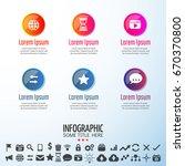 infographics design template... | Shutterstock .eps vector #670370800