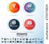 infographics design template... | Shutterstock .eps vector #670370824