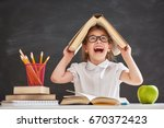 back to school and happy time ... | Shutterstock . vector #670372423