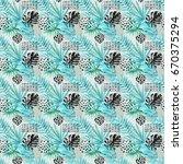 watercolor graphical... | Shutterstock . vector #670375294