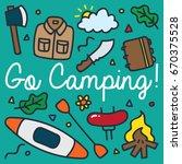 outdoor adventure and... | Shutterstock .eps vector #670375528