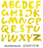 letters drawn with black paint... | Shutterstock . vector #670377178