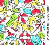 seamless pattern of linear... | Shutterstock .eps vector #670378864