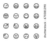 icon set   emoticon | Shutterstock .eps vector #670381390