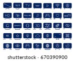 a set of icons depicting smart... | Shutterstock .eps vector #670390900