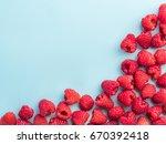 Background Of Raspberries....