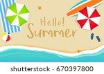 hello  summer banner vector... | Shutterstock .eps vector #670397800