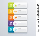 5 infographic tab index banner... | Shutterstock .eps vector #670401640