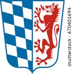 coat of arms of lower bavaria...