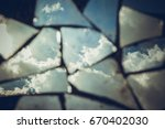 reflection of a blue sky with...   Shutterstock . vector #670402030