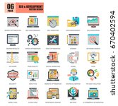 flat conceptual icons pack seo...   Shutterstock .eps vector #670402594