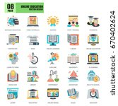 flat conceptual icons pack... | Shutterstock .eps vector #670402624