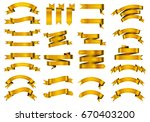 vector ribbon banners.set of...   Shutterstock .eps vector #670403200