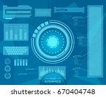 abstract future  concept vector ... | Shutterstock .eps vector #670404748
