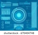 abstract future  concept vector ... | Shutterstock .eps vector #670404748