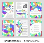 abstract vector layout... | Shutterstock .eps vector #670408243