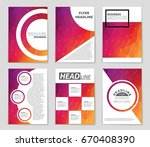 abstract vector layout... | Shutterstock .eps vector #670408390