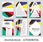 abstract vector layout... | Shutterstock .eps vector #670408456