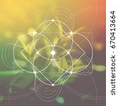 flower of life   the... | Shutterstock .eps vector #670413664