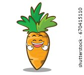 laughing face carrot character... | Shutterstock .eps vector #670415110
