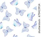 watercolor hand drawn... | Shutterstock . vector #670415914