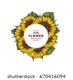 sunflower vintage design... | Shutterstock .eps vector #670416094