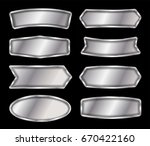 vector metal sign isolated on... | Shutterstock .eps vector #670422160