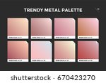 rose gold gradient template.... | Shutterstock .eps vector #670423270