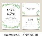 wedding invitation card... | Shutterstock .eps vector #670423348