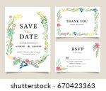 wedding invitation card... | Shutterstock .eps vector #670423363