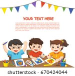 back to school. happy creative... | Shutterstock .eps vector #670424044