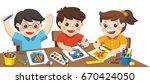 back to school. happy creative... | Shutterstock .eps vector #670424050