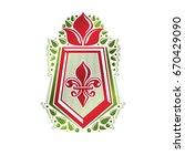 vintage heraldic emblem created ... | Shutterstock .eps vector #670429090