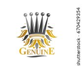 royal crown emblem. heraldic...   Shutterstock .eps vector #670429354