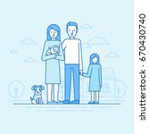 vector flat linear illustration ... | Shutterstock .eps vector #670430740